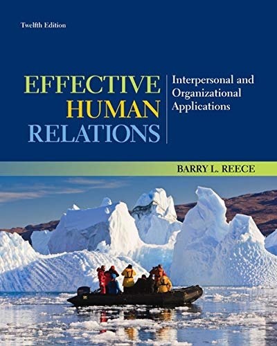 9781133960836: Effective Human Relations: Interpersonal and Organizational Applications