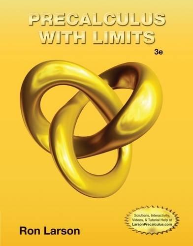 K12 HS PreCalculus with Limits Level 4,: Ron Larson