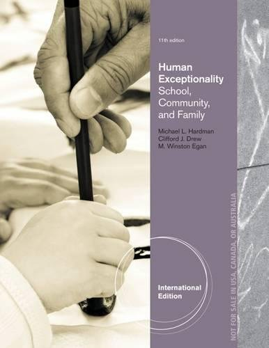 9781133964490: Human Exceptionality: School, Community, and Family, International Edition