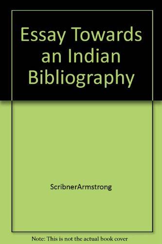 9781135116729: Essay Towards an Indian Bibliography