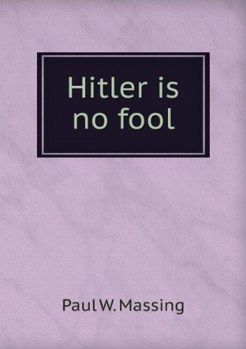 9781135230968: Hitler is no fool,