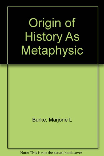 9781135232924: Origin of history as metaphysic
