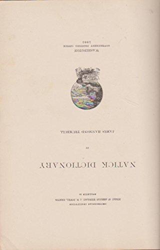 9781135417307: Natick dictionary, (Bulletin)