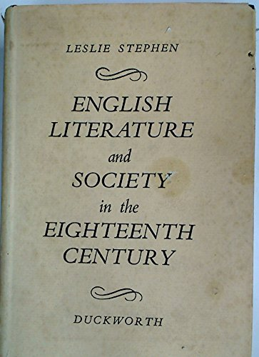 9781135456405: English literature and society in the eighteenth century