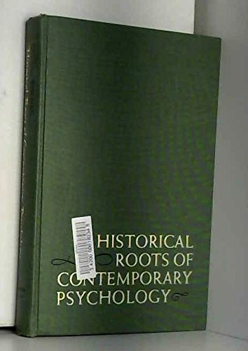 9781135509804: Historical Roots of Contemporary Psychology