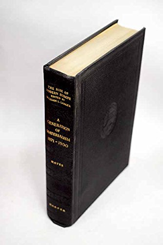 9781135578701: A generation of materialism, 1871-1900, (The Rise of modern Europe)