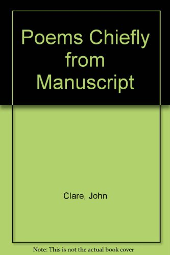 9781135690168: John Clare: Poems chiefly from manuscript