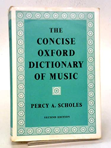 9781135692179: The Concise Oxford Dictionary of Music