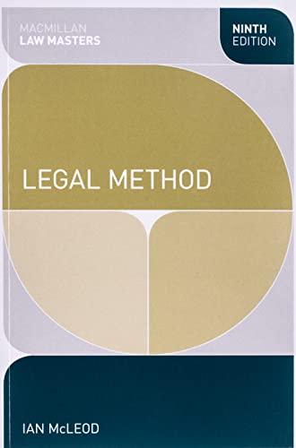9781137027689: Legal Method (Macmillan Law Masters)