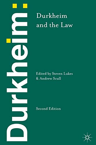 9781137031815: Durkheim and the Law