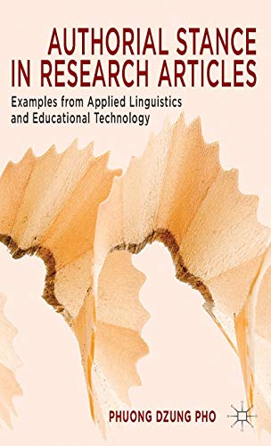Authorial Stance in Research Articles: Examples from Applied Linguistics and Educational Technology...