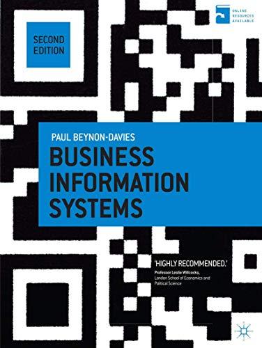 Business Information Systems: Professor Paul Beynon-Davies
