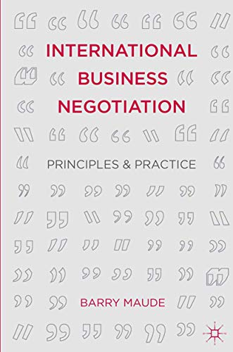 9781137270511: International Business Negotiation: Principles and Practice