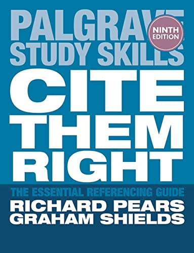 9781137273116: Cite Them Right: The Essential Referencing Guide