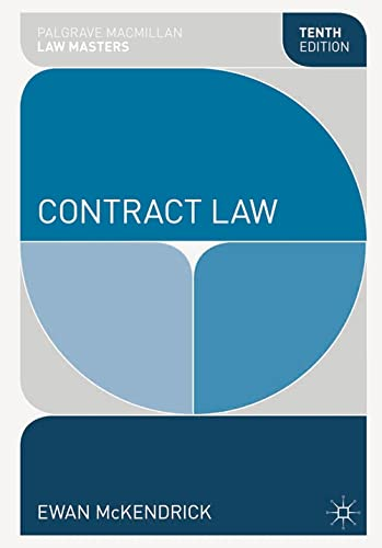 9781137293701: Contract Law (Palgrave Macmillan Law Masters)
