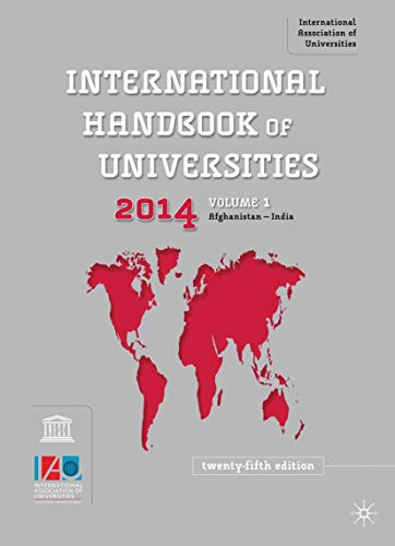 International Handbook of Universities 2013 (Hardback): International Association of Universities