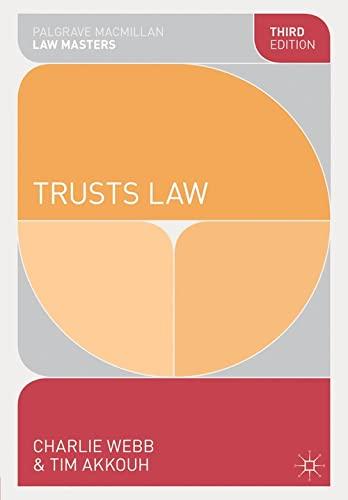 9781137297525: Trusts Law (Palgrave Macmillan Law Masters)