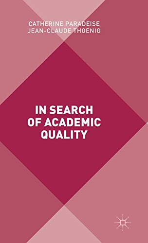 9781137298287: In Search of Academic Quality