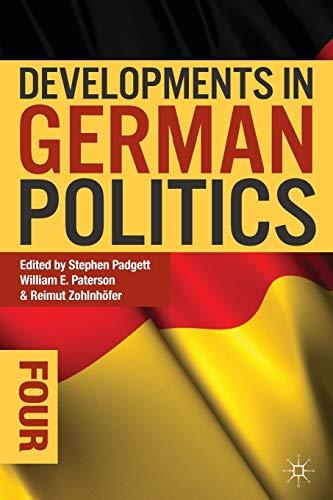 9781137301628: Developments in German Politics 4 (Developments Series)