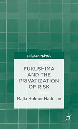 9781137343116: Fukushima and the Privatization of Risk (Palgrave Pivot)