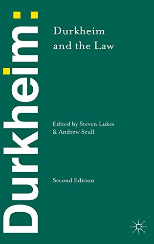 9781137352408: Durkheim and the Law