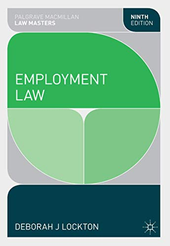 9781137354129: Employment Law (Palgrave Law Masters)