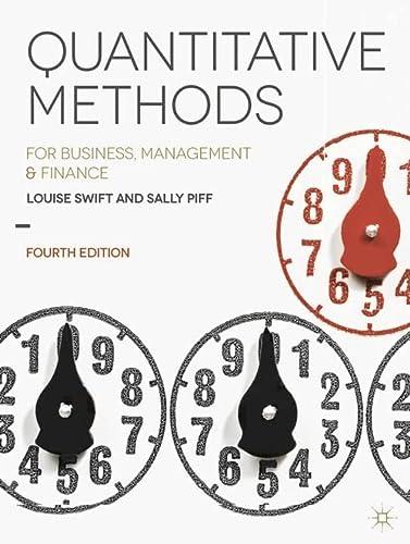 9781137376558: Quantitative Methods: for Business, Management and Finance