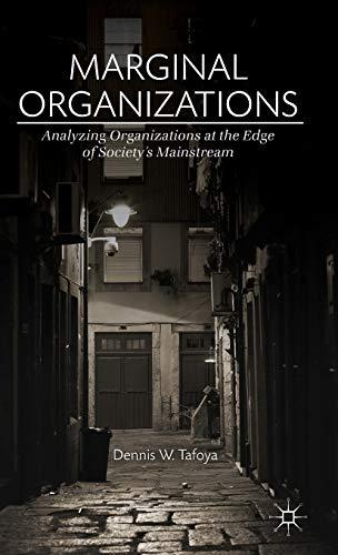 9781137379467: Marginal Organizations: Analyzing Organizations at the Edge of Society's Mainstream