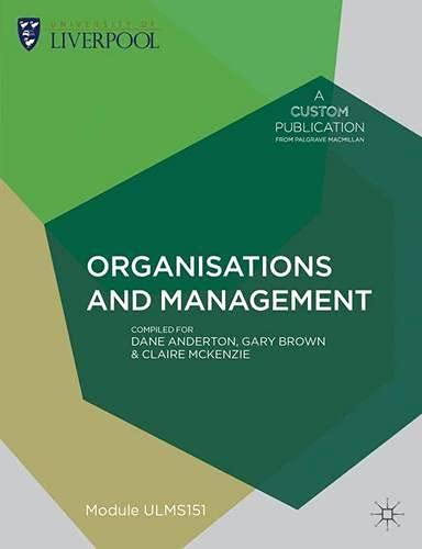 9781137395795: Custom Liverpool Organisations and Management Ulms151