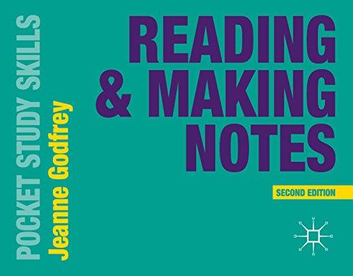 9781137402585: Reading & Making Notes (Pocket Study Skills)