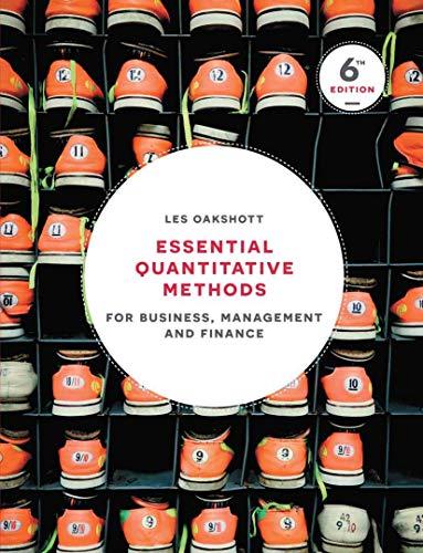 9781137518552: Essential Quantitative Methods: For Business, Management and Finance
