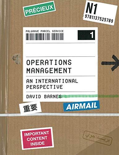 9781137525789: Operations Management: An International Perspective