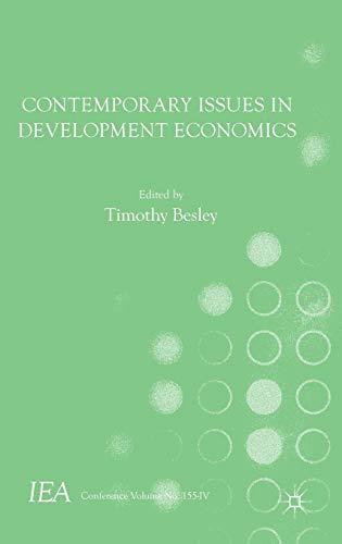 9781137529732: Contemporary Issues in Development Economics (International Economic Association Series)