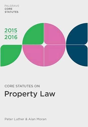 9781137545022: Core Statutes on Property Law 2015-16