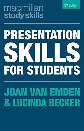 Presentation Skills For Students 3 Rev ed: Van Emden, Joan;becker,