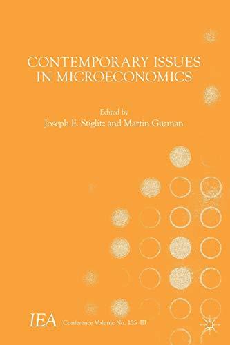 9781137579379: Contemporary Issues in Microeconomics (International Economic Association Series)