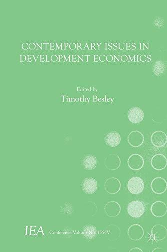 9781137579447: Contemporary Issues in Development Economics (International Economic Association Series)