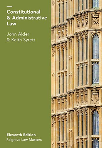 9781137606716: Constitutional and Administrative Law (Palgrave Law Masters)