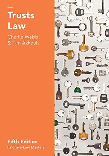 9781137606723: Trusts Law (Macmillan Law Masters)