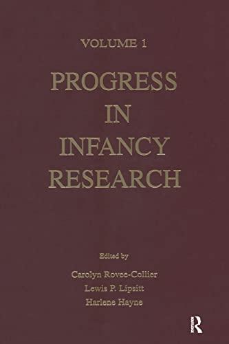 9781138003460: Progress in infancy Research: Volume 1