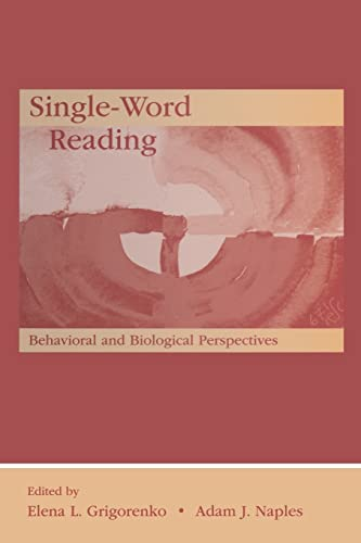 9781138004153: Single-Word Reading: Behavioral and Biological Perspectives (New Directions in Communication Disorders Research)