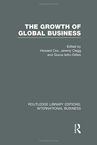 9781138007833: The Growth of Global Business (RLE International Business)
