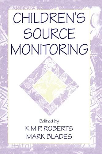 9781138012622: Children's Source Monitoring