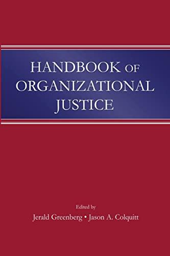 9781138012738: Handbook of Organizational Justice