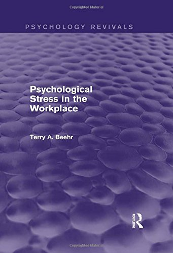9781138012981: Psychological Stress in the Workplace (Psychology Revivals)