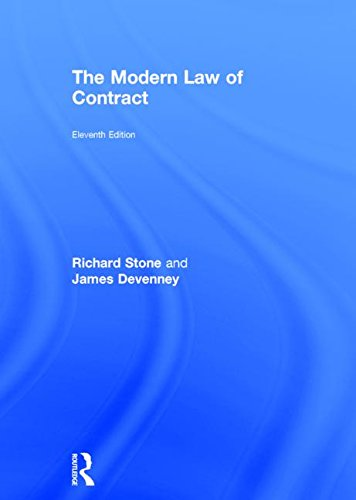 9781138015814: The Modern Law of Contract