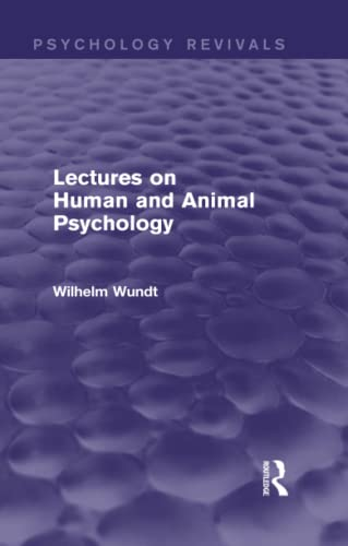 9781138018228: Lectures on Human and Animal Psychology (Psychology Revivals)