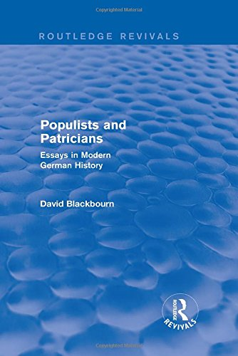 9781138020535: Populists and Patricians (Routledge Revivals): Essays in Modern German History