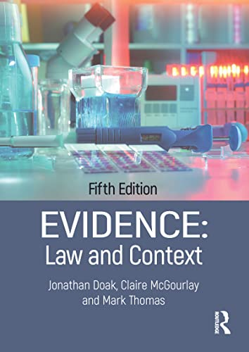 9781138054998: Evidence: Law and Context