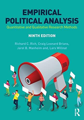 Empirical Political Analysis: Quantitative and Qualitative Research: Rich, Richard C.;